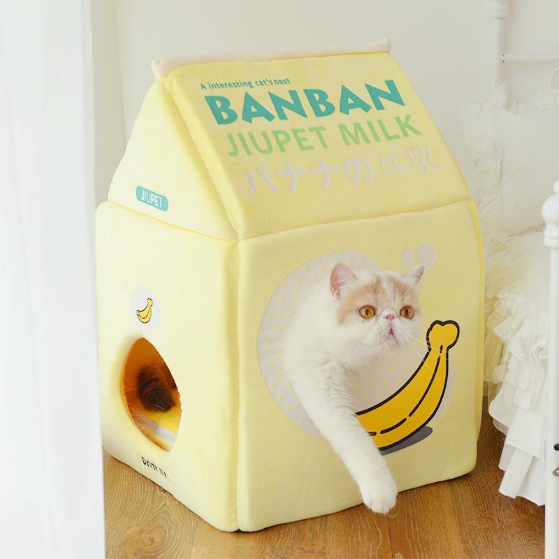 Morango Leite Banana Leite Cat Cat Casa 1178 V2