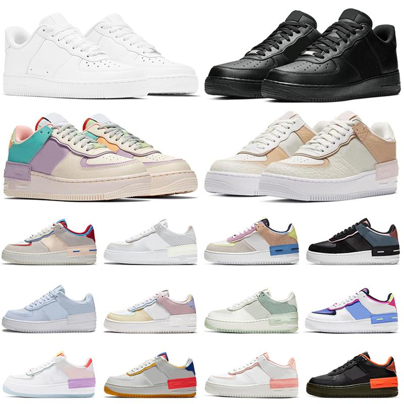 air force 1 af1 airforce forces 그림자 반응 캐주얼 신발 트리플 블랙 화이트 Chaussures Be True Skeleton Worldwide womens mens trainers outdoor sneakers Platform