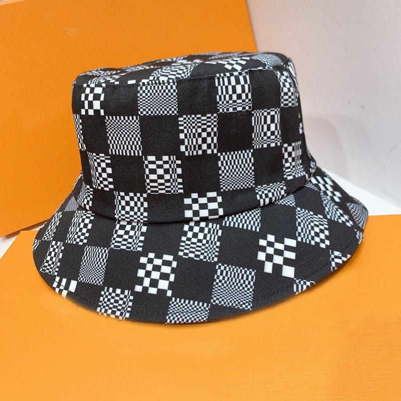 Fashion Plaid Secchio Cappello Uomini Donne Asquette Fashion Brand Gorra Designer Cappelli Cappelli per donna Uomo Cappelli da uomo Grid 202105079xv