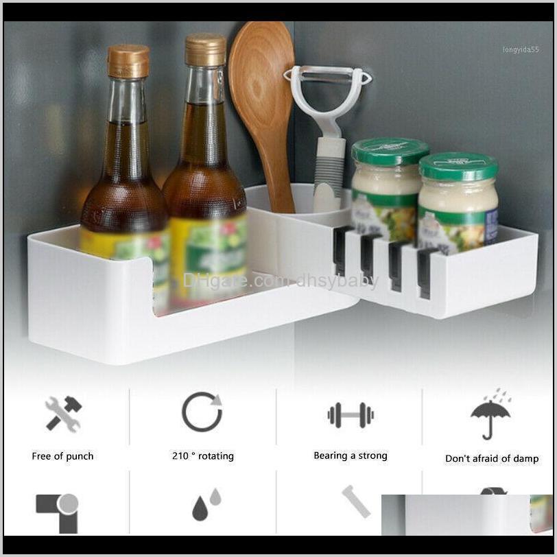 Shees Hardware Hausgarten Drop Lieferung 2021 Dusche Caddy Regal Bad Rack Lagerhalter Organizer drehbar für Badezimmerecke S7 # 51 Mo
