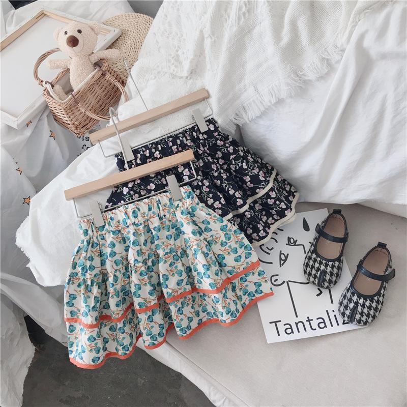 Ins stilvolle Kinder Tutu Mädchen Röcke Floral Sommer Kinder Kleidung Baumwolle Kleinkind