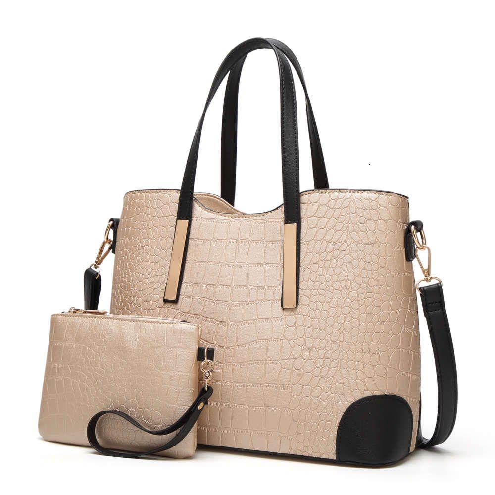 HBP Casual Tote women's bag embossed fashion boutique shoulder portable women crocodile diagonal parent Tassel handbag classic purse
