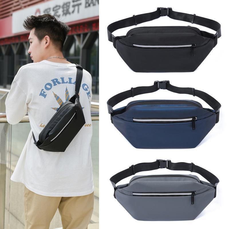 Fanny Pack Outdoor Sports Waist Bag Men's Shoulder Messenger Reflective Leisure Travel Chest Bolso Hombre Bandolera Bags