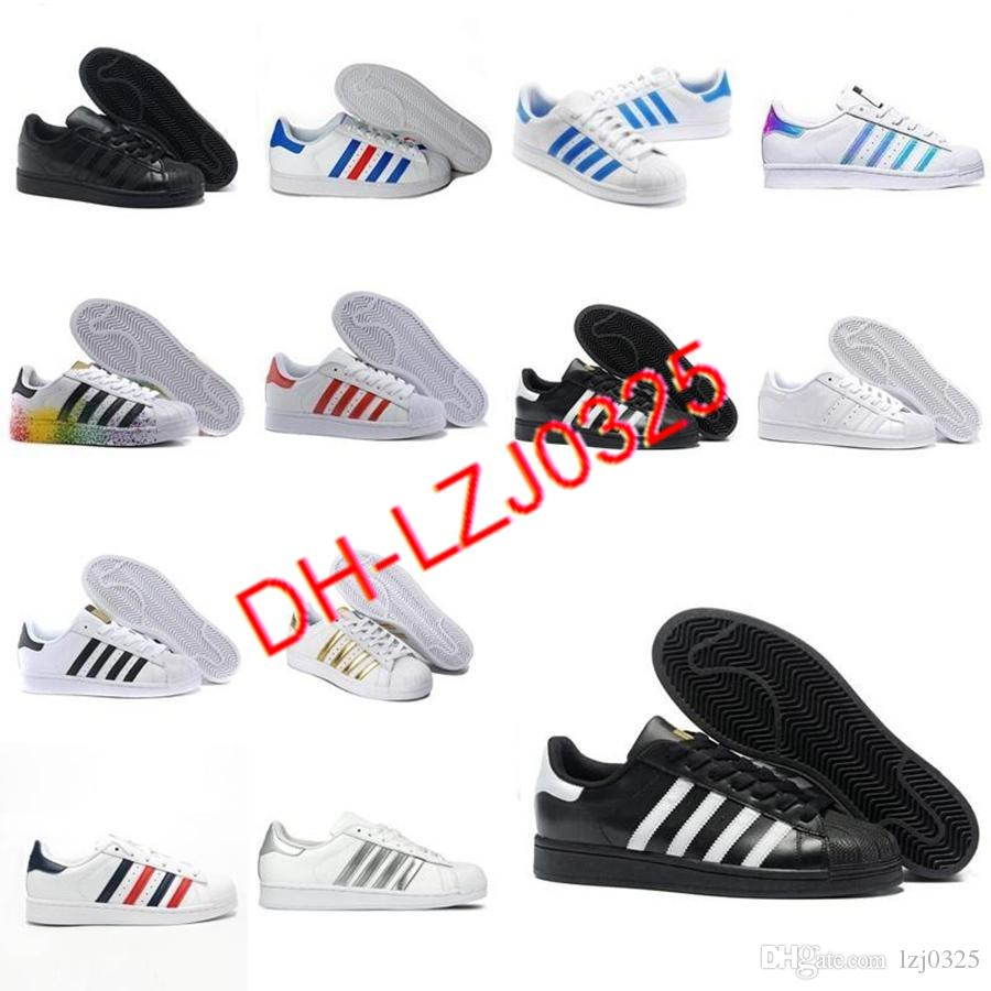 2021 Originals Boots Superstares Blanco Rojo Oro estrellas Pride Sneakers Supers Star Lady Men Sport Casual Shoes Size 36-44 DX152