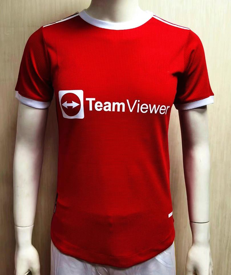 Versión del jugador 2021 2022 # 6 Unidad de Pogba Home Red Soccer Jerseys 22 22 New Temporada Camisas de fútbol 2019 Uniformes de fútbol en venta