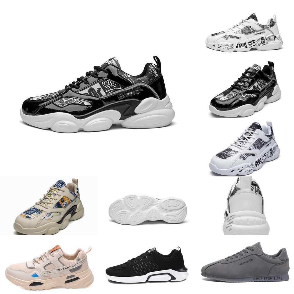 LKN9 Hommes Plate-forme HotSale pour chaussures de course Baskets Hommes Triple Triple Blanc Triple Black Cool Sports Sports de plein air Taille 39-44