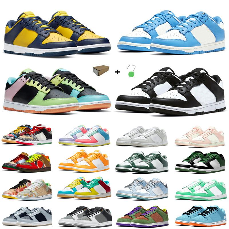 Scarpe da corsa Dunk Dunk Dunky Dunky Dunky Low Bianco Metallico Oro Nero Siracusa Verde Bear Panda Pigese Chicage Womens Sneakers Sneakers Trainer Sport