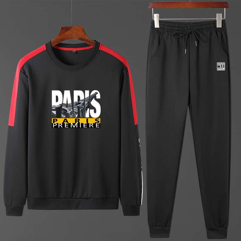 Tracksuiti da uomo Primavera e autunno Sportswear stampato in seta