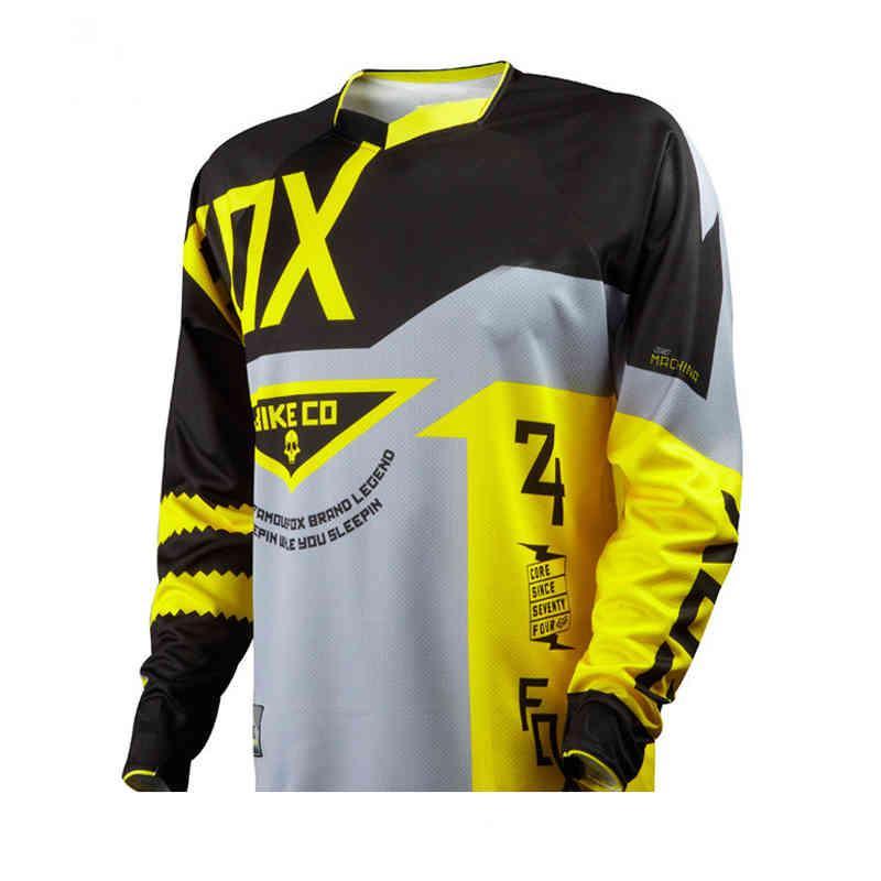 2020 Motosiklet Dağ Bisikleti Ekibi Downhill Jersey MTB Offroad DH MX Bisiklet Lokomotif Gömlek Çapraz Ülke Dağ Bisikleti Jersey X0503