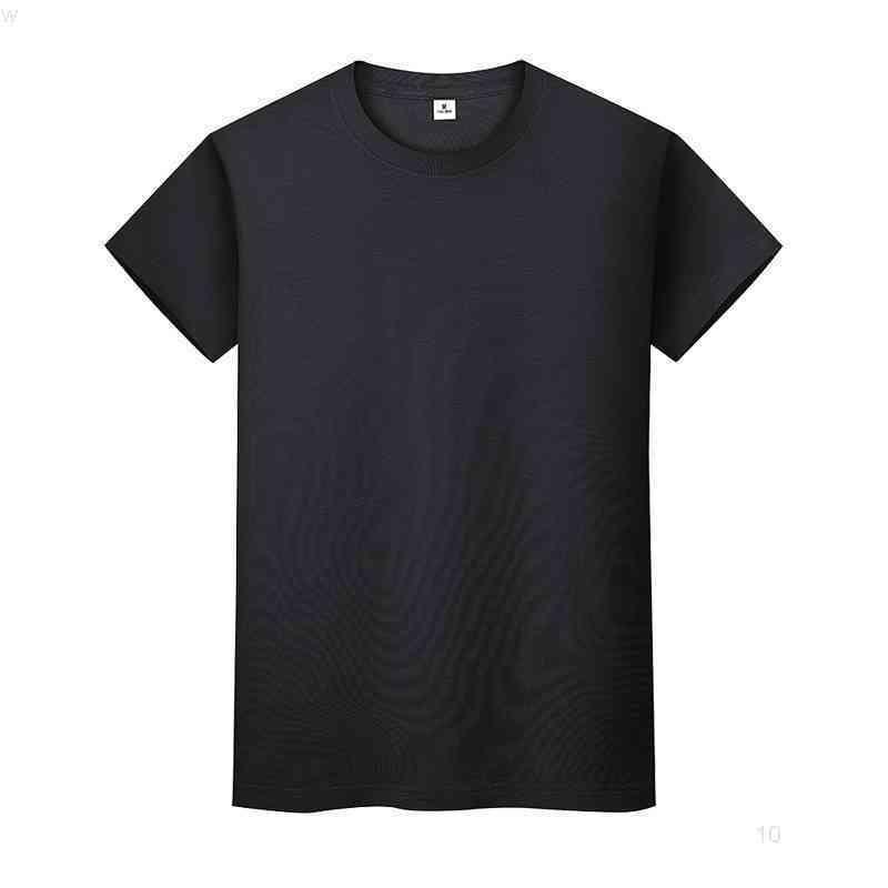 Yeni Yuvarlak Boyun Katı Renk T-Shirt Yaz Pamuk Dip Gömlek Kısa Kollu Erkek ve Bayan Yarım Kollu Fricio