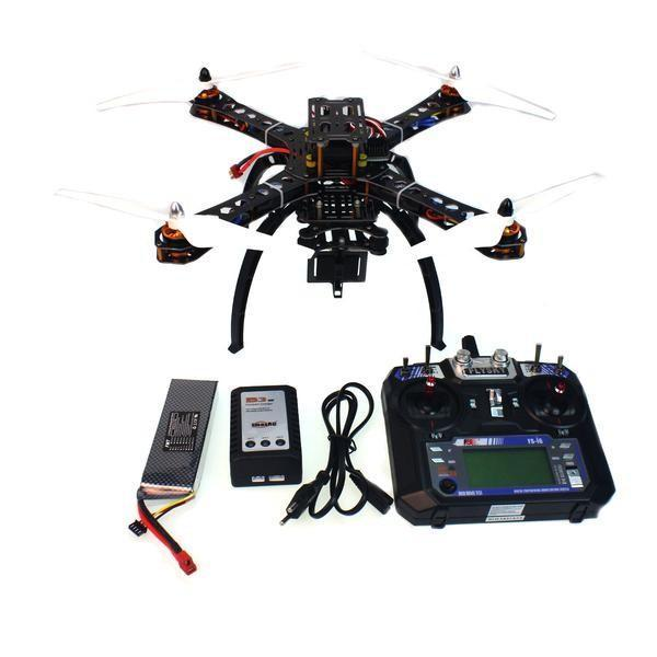 Helicóptero RC montado com APM2.8 Controle de voo + Transmissor FS-6CH + GPS Folding Antena Montagem + Câmera PTZ F14893-D Drones