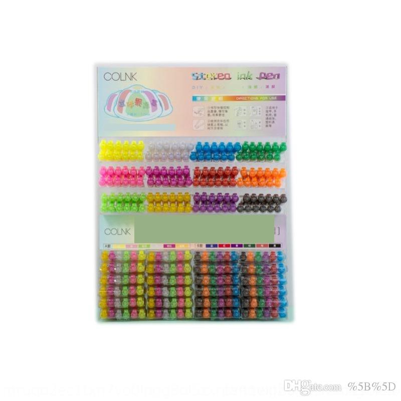 Ar0b colin diydiy 890 stereo fluorescente pittura penne pittura a mano graffiti manuale account studente creativo 3d gelatina penna set
