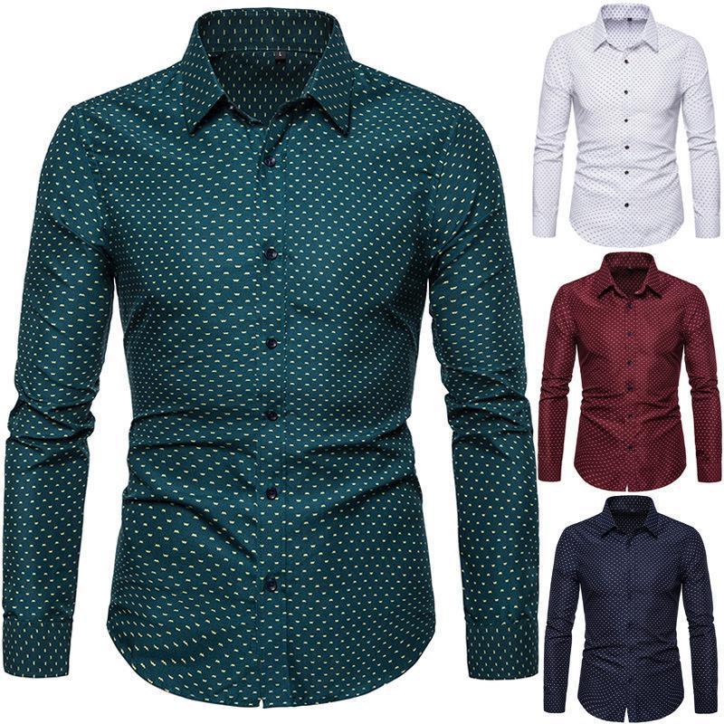 남성 비즈니스 바닥 긴 소매 셔츠 캐주얼 패션 의류 streetwear 셔츠