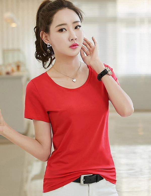 Estate 2021 T-shirt manica corta T-shirt Mint Donne Top Garment T-shirt da donna