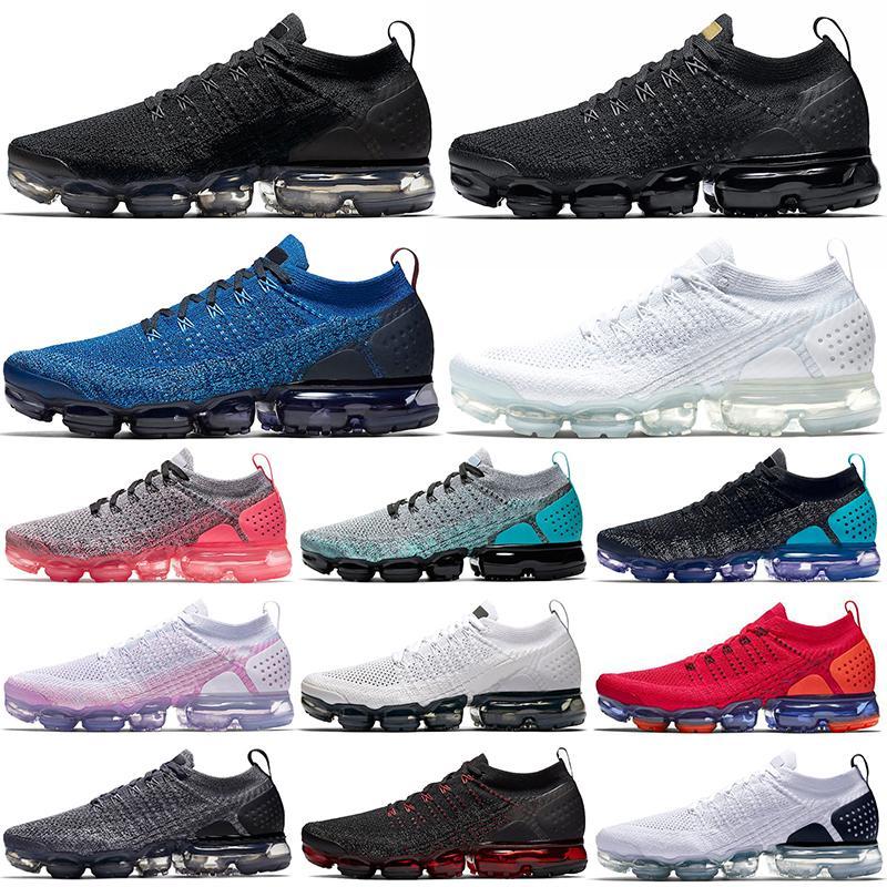 الهواء vapormax الاحذية fk 2.0 vapor flyknit الرجال النساء النقي البلاتين الثلاثي الأسود الأزرق fury usa teal في الهواء الطلق المدربين الرياضة أحذية رياضية المشي الركض