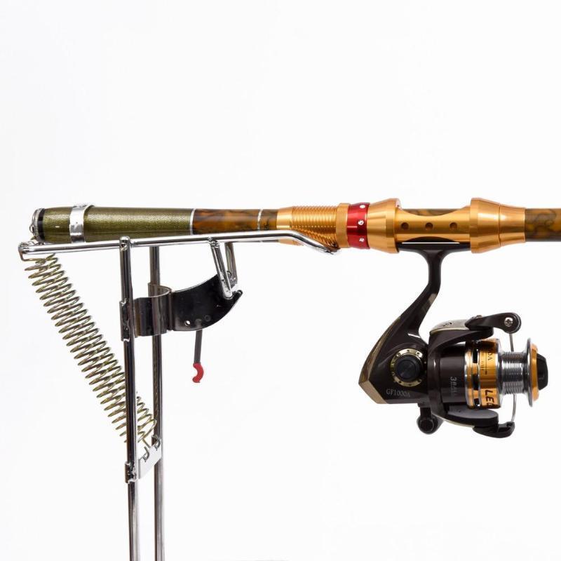 Dobrável Automático Duplo Ângulo de Primavera Pesca Equipamento Bracket Anti-ferrugem Suporte de Haste de Aço Barco Hastes