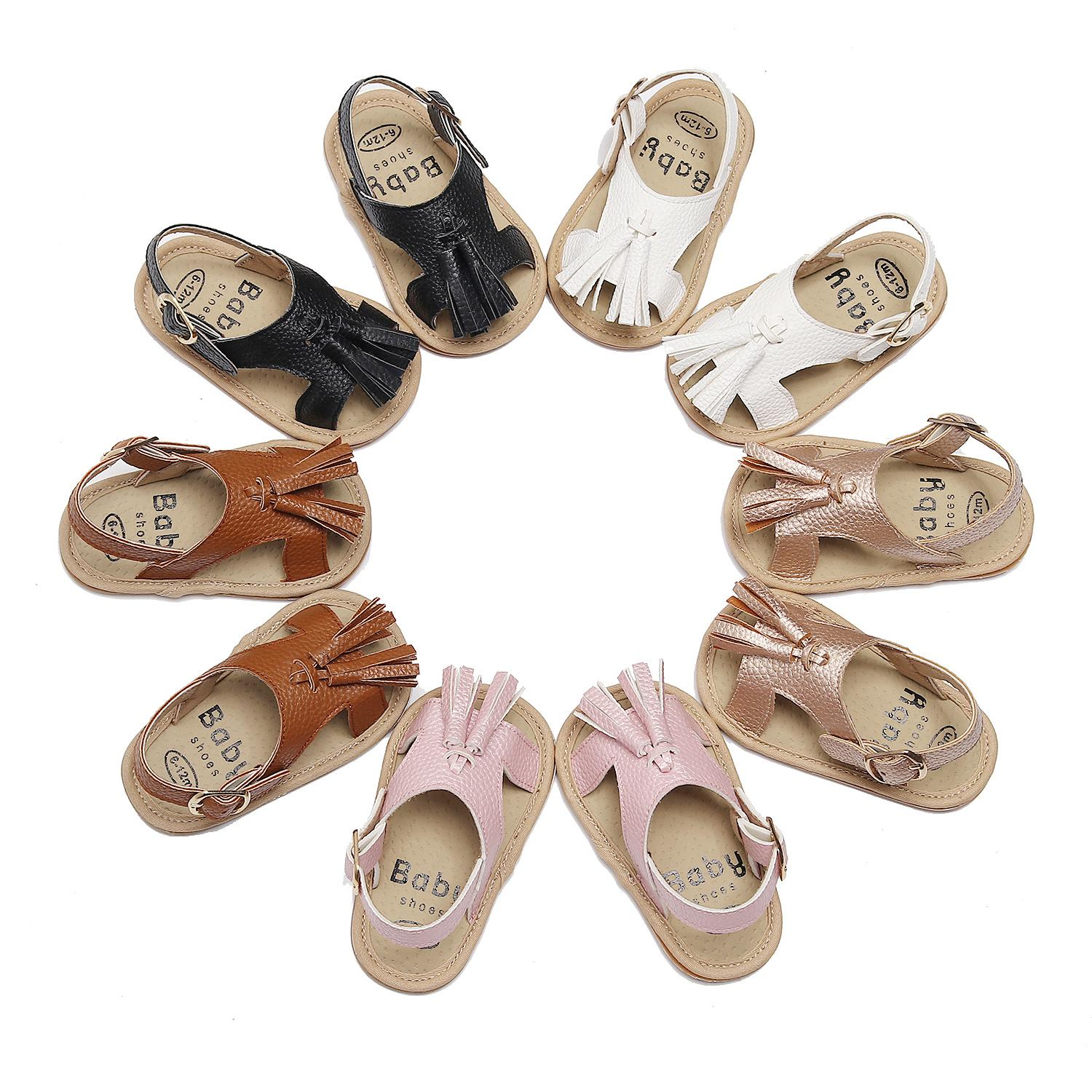 Summer Newborn Baby Girl Soft First Walkers Shoes Infant Lace-up PU Casual Single Shoe Sandals Fashion Spring Sneakers