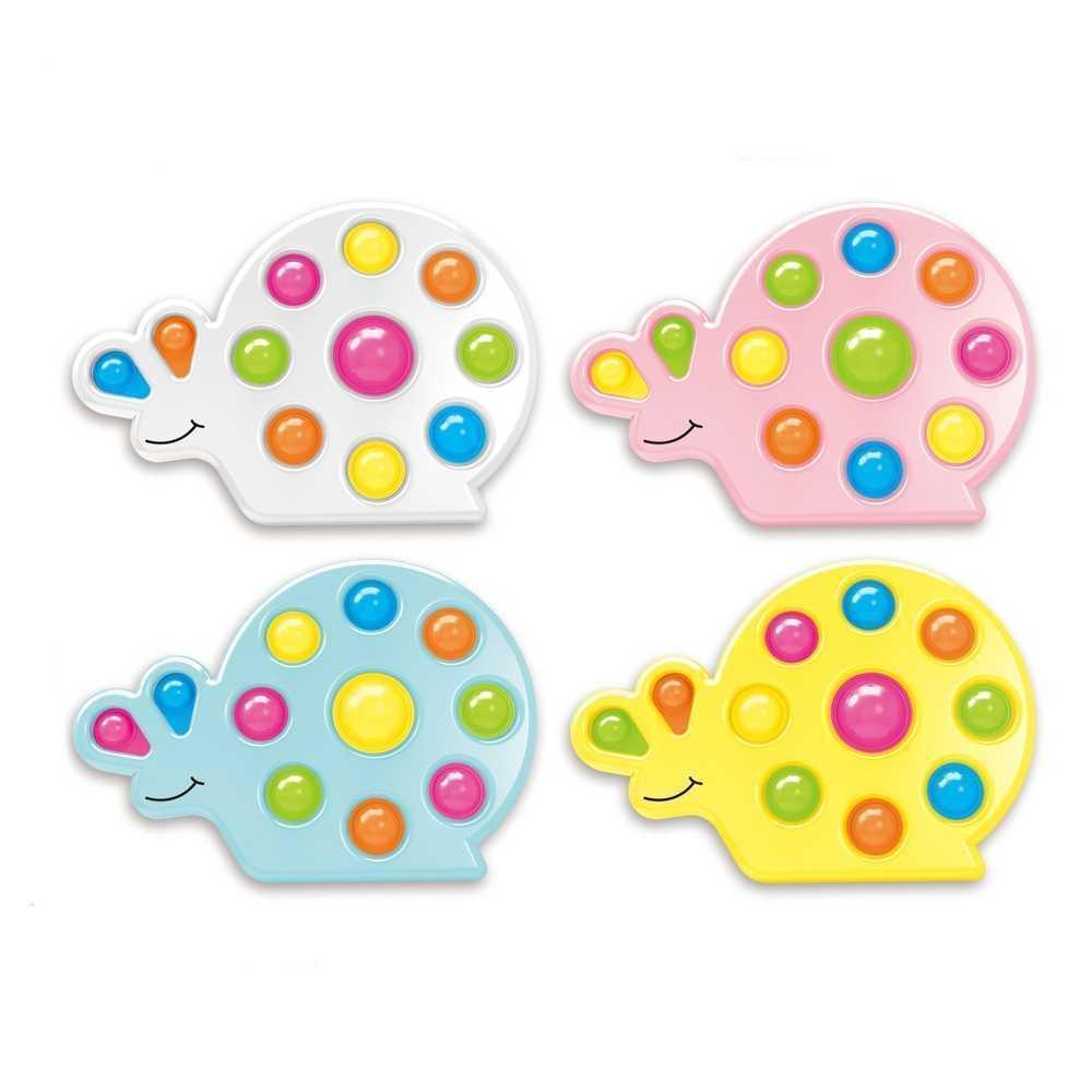 Forma de caracol Push Pop Bubbles Popper Sensory Fidget Dedo Puzzle Tablero Juguetes dedo PopperPop Poppers DNA Ball Ball Novel Niños Estrés Alivio Relajación Juego G68F6U4