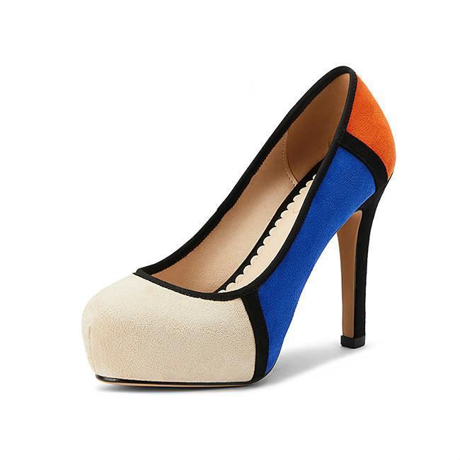 Elbise Ayakkabı 2021 Bahar kadın Pompaları Büyük Boy 34-46 Süper Yüksek Topuk Slip-On Yuvarlak Ayak Seksi Bayanlar Parti Katı Sığ