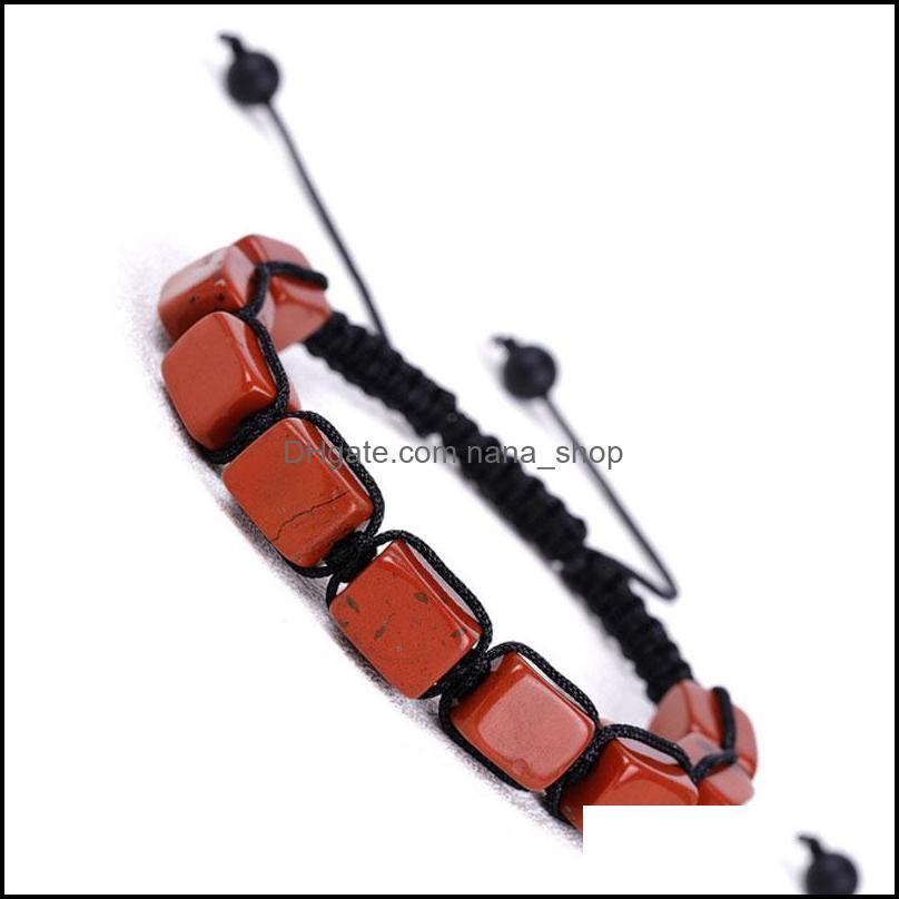 Bijoux corde de pierre naturelle tressée à la main charm de charme perlé bracelets de charme réglable bijoux pour femmes hommes Party Club Décor Drop Deliv