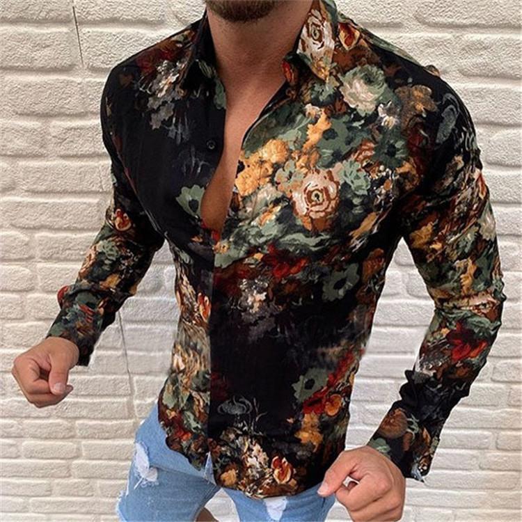 대외 무역 남자 캐주얼 패션 슬림 피트 셔츠 남성 셔츠