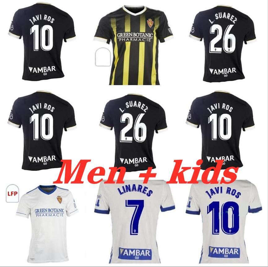 21 22 REAL ZARAGOZA Away Jersey 2021 2022 Shinji Kagawa André Pereira Alberto Soro Camisetas de Futbol Set Football Shirts Homens Crianças Conjuntos Kits Uniformes