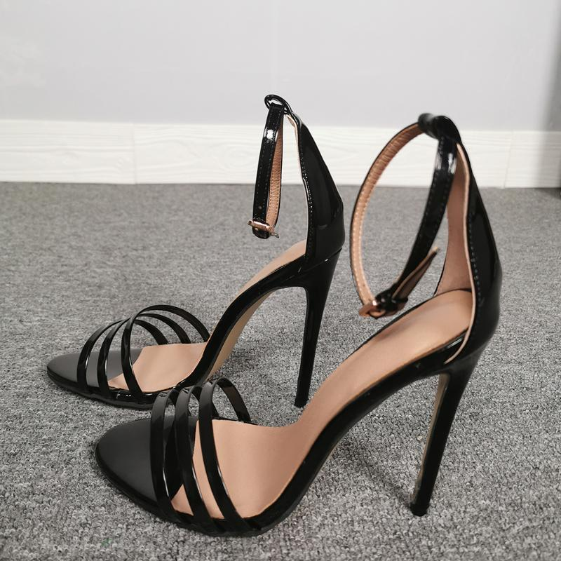 Sexy Solid Open Toe Shoes Women Ankle Strap Thin Heel Fashion Sandals Party Dress Cover