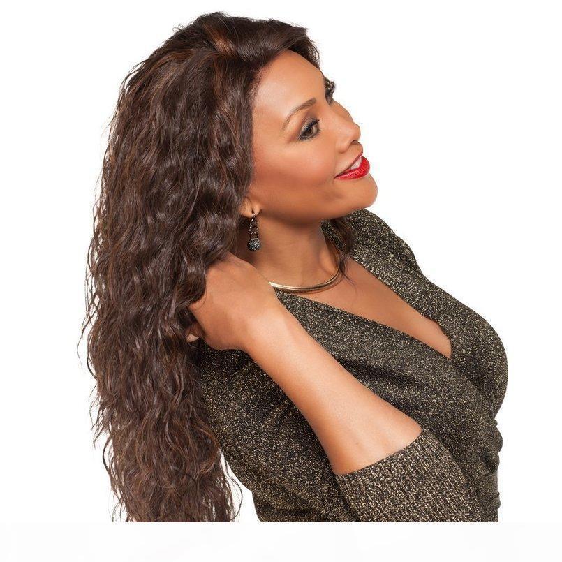 유럽 및 미국 가발 여성 옥수수 Perm 긴 컬 아프리카 작은 곱슬 머리 패션 가발 물 파도 가발 레이스