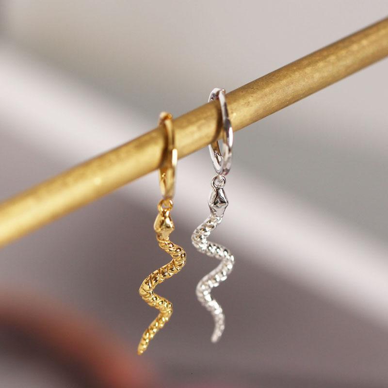 925 Sterling for Women Snake Animal Gold Sier Earrings Jewellery S-e1386