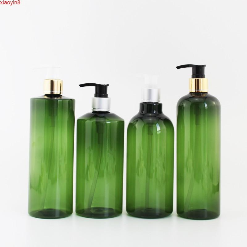 500ml X 15pc Empty Dark Green Lotion Pump Bottle Cosmetics Plastic Dispenser Soap Containers Greenhigh qty