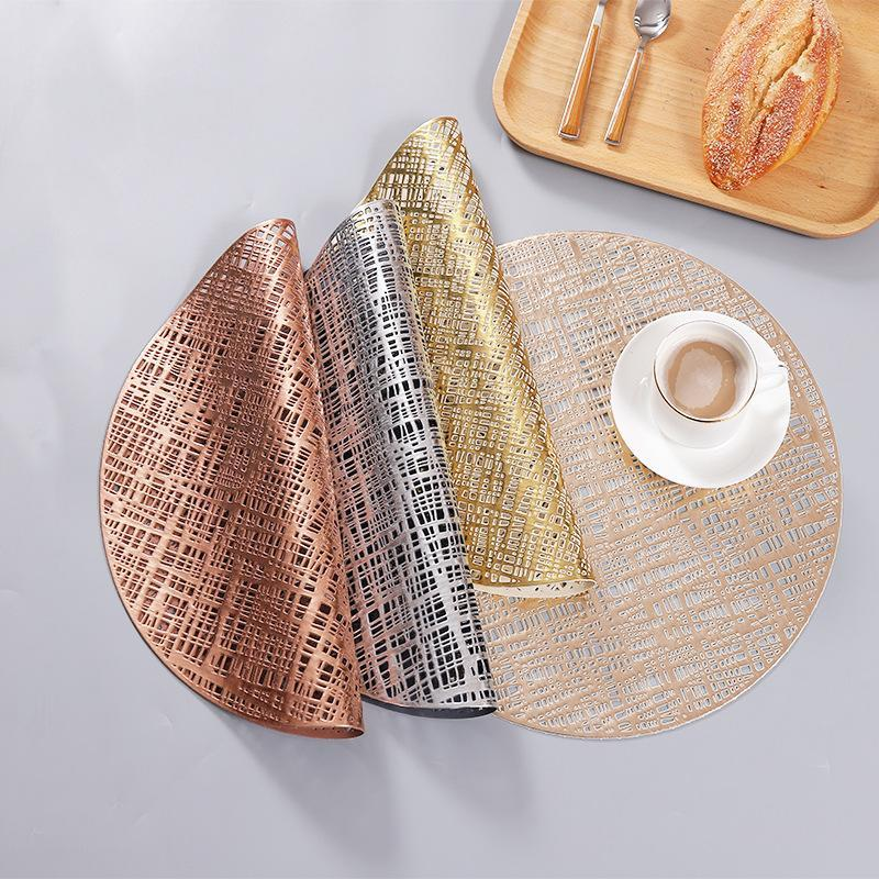 Mats & Pads Pvc Placemats Compact Round Coffee Cup Disc Pad Thick Solid Color Heat Insulation Western Food Nordic Placemat Table Mat