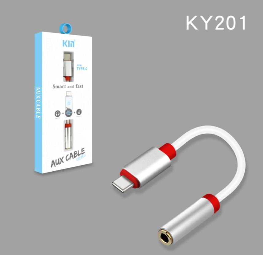 C ~ 3.5mm 이어폰 어댑터 디지털 칩 Aux 오디오 케이블 헤드폰 변환기 Huawei 삼성 폰