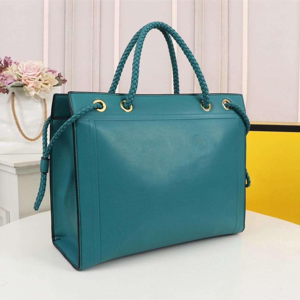 2021 bolsas pretas designer compras sacolas de couro Material de couro bolsa de ombro grande capacidade Mensageiro pacote de negócios elegante