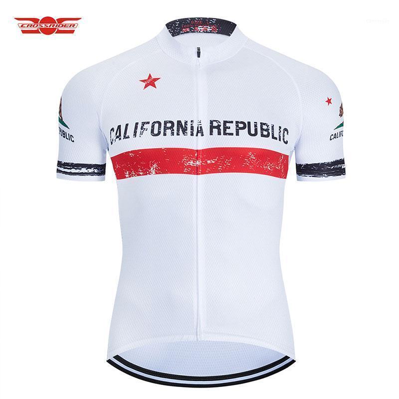 Californie Bear Jersey Jersey Vêtements de montagne Blanc Quick Vetect Vêtements de vélo Uniformes Vêtements de vélo Hommes Tissu1