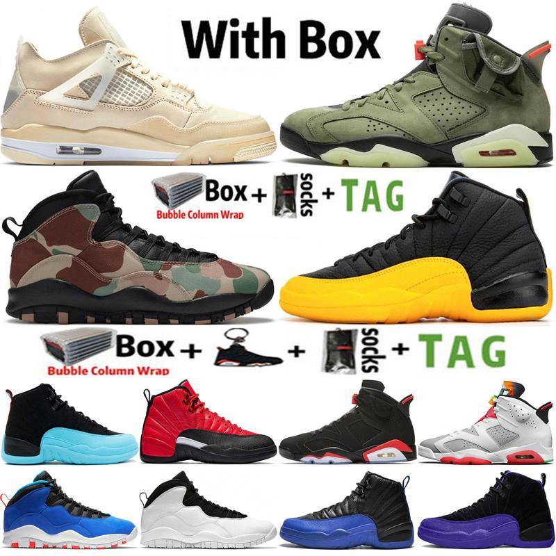 2021 Jumpman 4 SAIL 4S Erkek Basketbol Ayakkabıları 6 6 S Travis Scotts 10 10 S