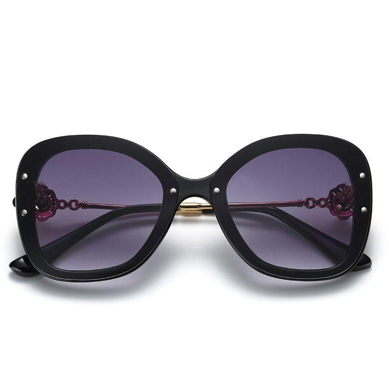 Lunettes de soleil de la fleur de mode de mode rétro dames de luxe lunettes de soleil de luxe marque femme lunettes oculos de sol