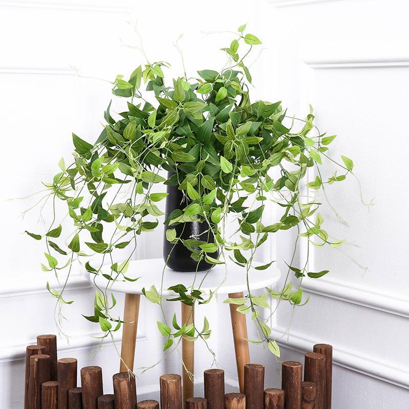 88cm Plantas Verdes Artificiais Folha de Magnólia Pendurar Folhas Falseiras Flores Falas Videira Desktop Pot Jardim Garden Party Party Decoração