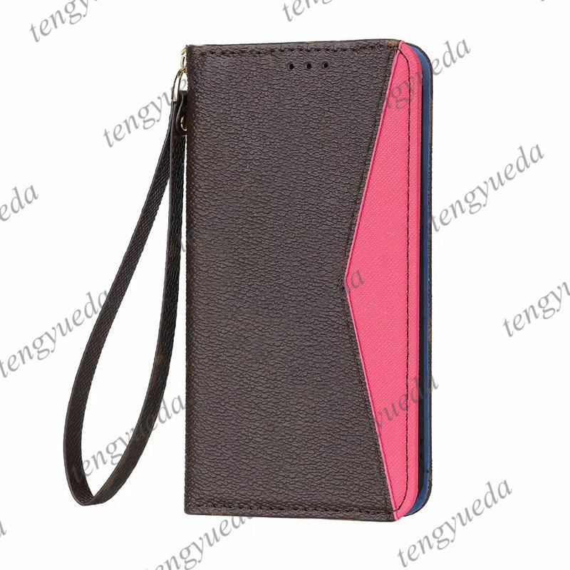 Top Mode Designer Portefeuille Téléphone pour iPhone 13 13Pro 12 11 PRO Max XS XSMA XSMA 8plus Microfibre Microfibre Porte-Porte-cartes Porte-cartes de téléphone portable de luxe