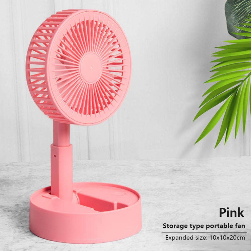Portable Hand Fan USB Rechargeable Foldable Desktop Mini Fan Cooler Adjustable Cooling For Home Office Dormitory Decorative Fans