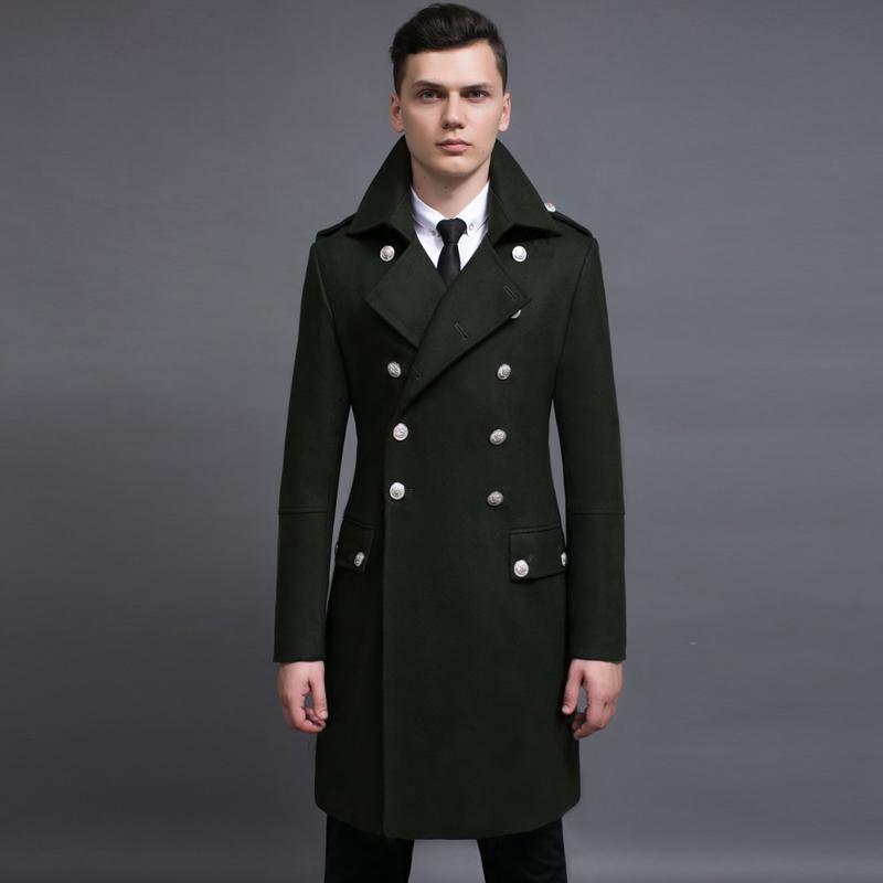 Cappotto da uomo in lana classica di lusso Doppio petto stile lungo stile Trench Autunno e inverno Plus Size 5XL 6xL Giacche Cappotti Miscele da uomo