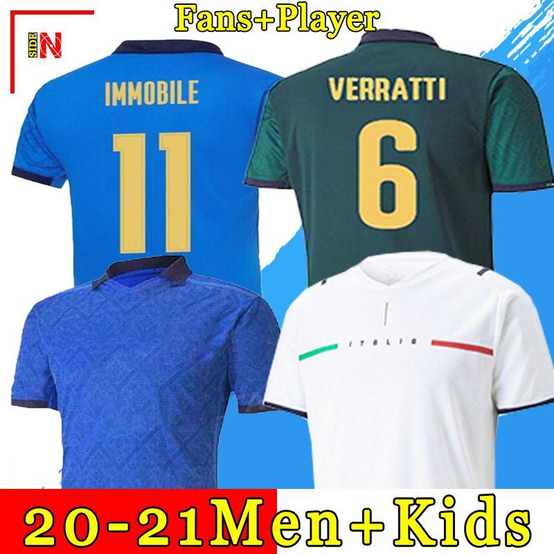 Maglia da calcio ITALIA 2021 BARELLA SENSI INSIGNE 20 21 Coppa Europa Rinascimento CHIELLINI BERNARDESCHI maglie calcio uomo + divise kit bambini