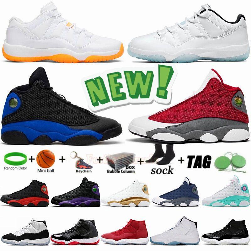 Tamaño 13 Zapatillas de baloncesto para hombre 13s Flint Chicago Hyper Royal Bred Jumpman 11 11s Low Legend Blue Bright Citrus 25th XI XIII Zapatillas deportivas para mujer