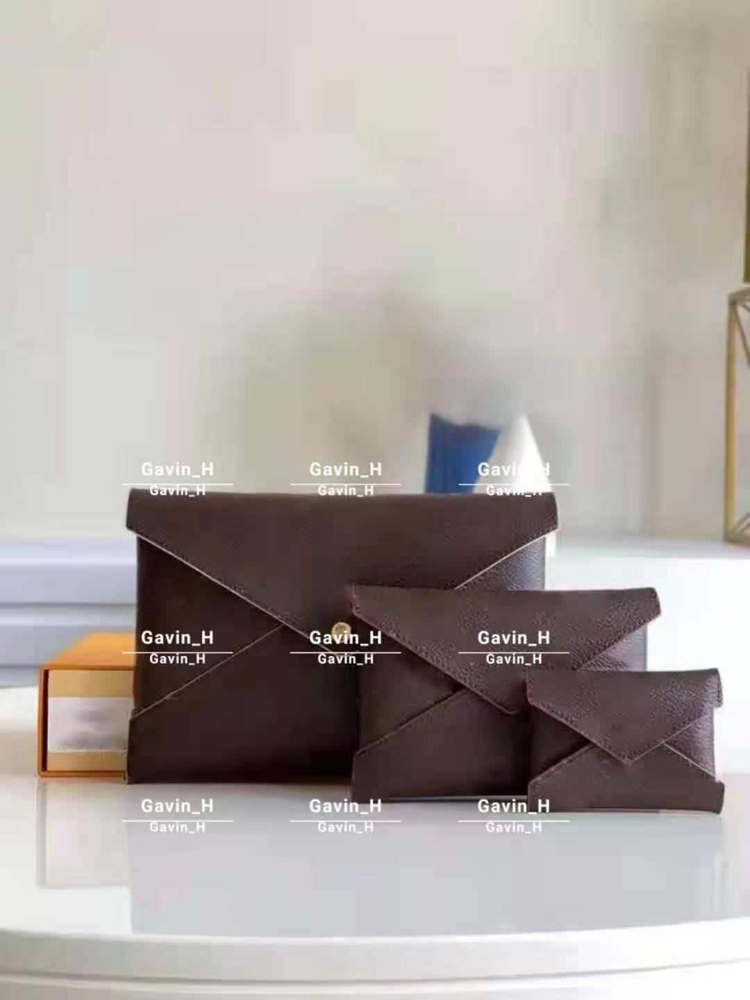 عالية الجودة مصممين حقائب حقائب محفظة 3 مجموعة النساء محافظ حامل بطاقة المحافظ حقيبة تخزين الأزياء مع صندوق