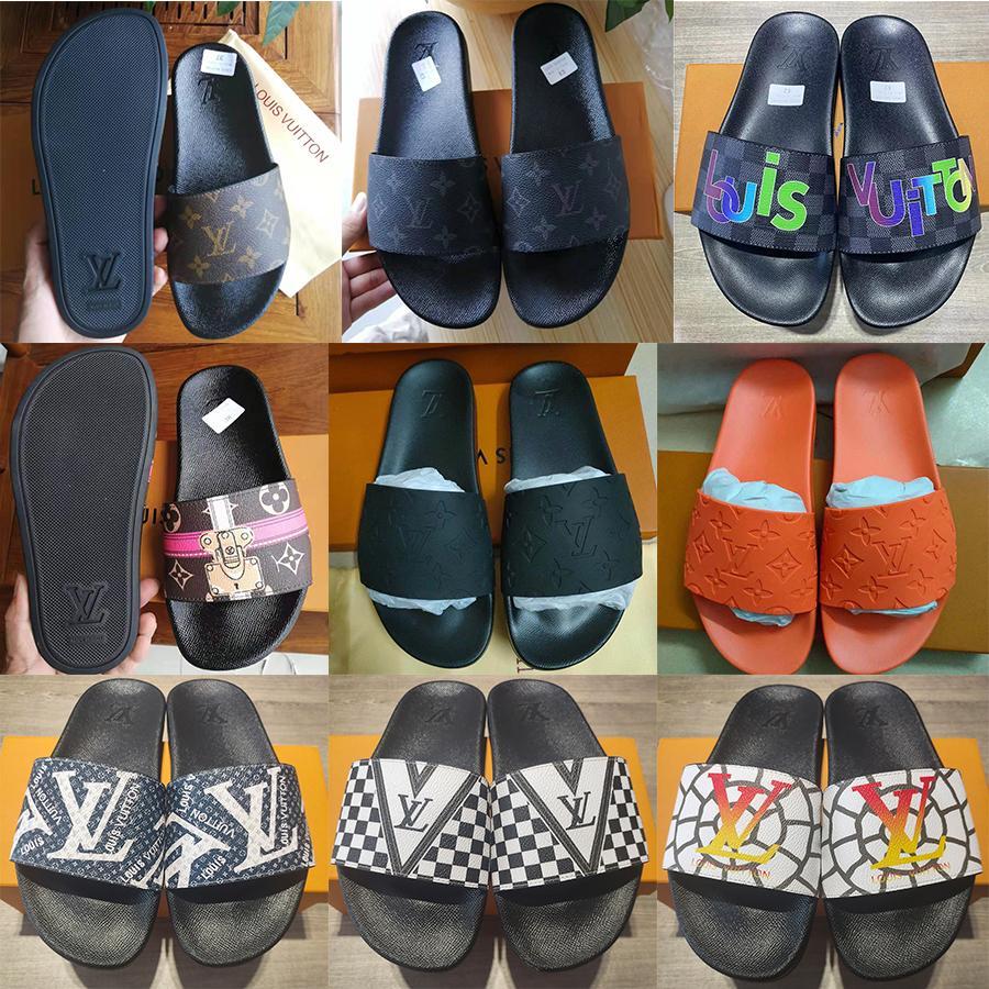 Mujer hombre sandalia zapatillas de alta calidad hombres causales hombres mujeres zapatillas zapatos planos Slide UE: 35-45 con caja 09