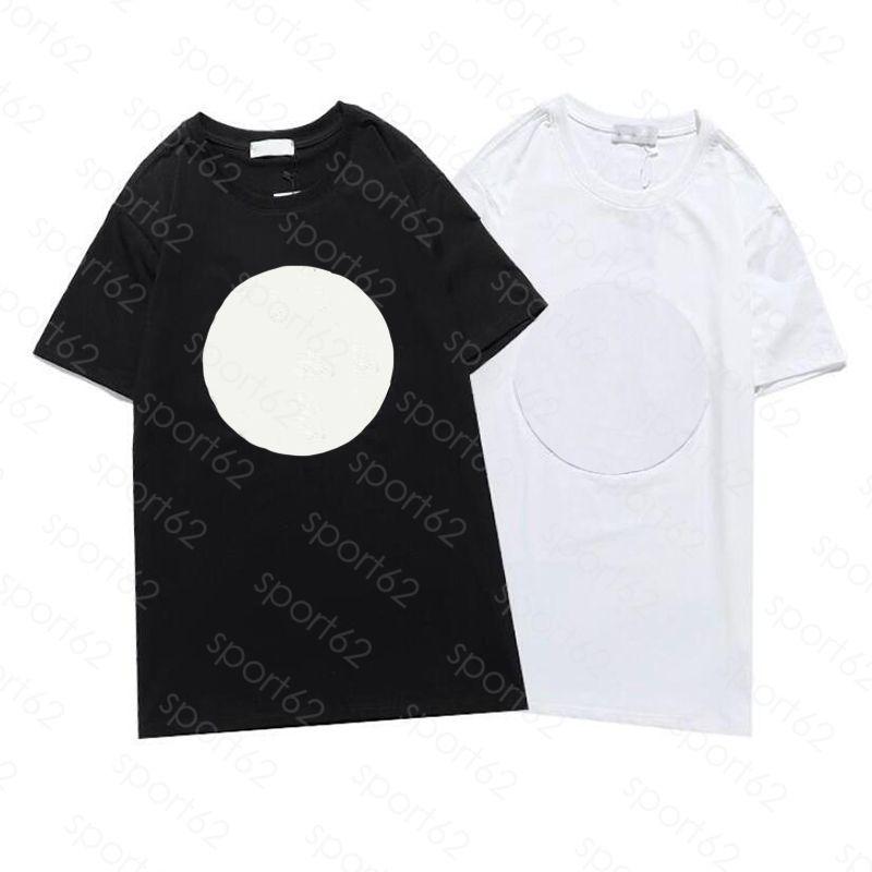 Erkek T Shirt Luxur Nakış Yaz Kısa Kollu T-shirt Erkek Kadın Kadın Tişörtleri Siyah Beyaz Cottn Asya Boyutu: S-XL Nefes Detay