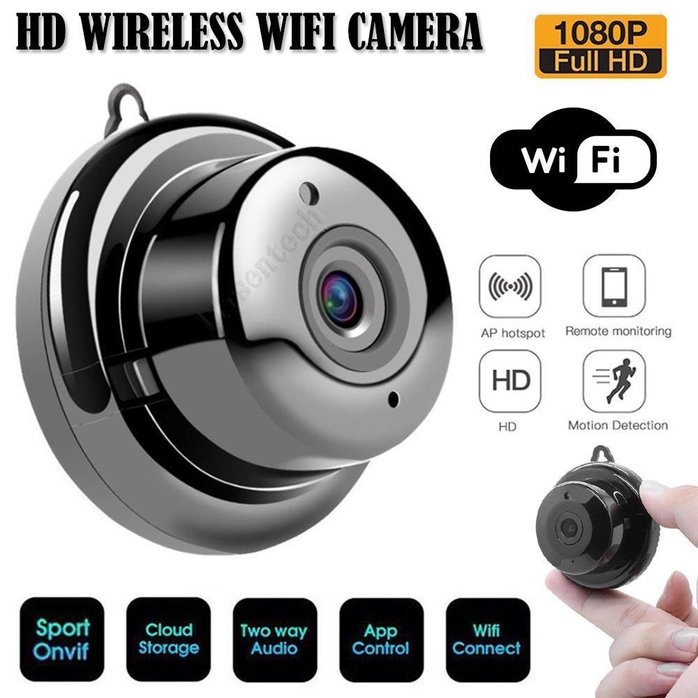 V380 MINI WIFI WEBCAM 1080P HD Web Web Web IP CCTV Cámara CCTV SMART Security Monitor de bebé Visión nocturna interior al aire libre