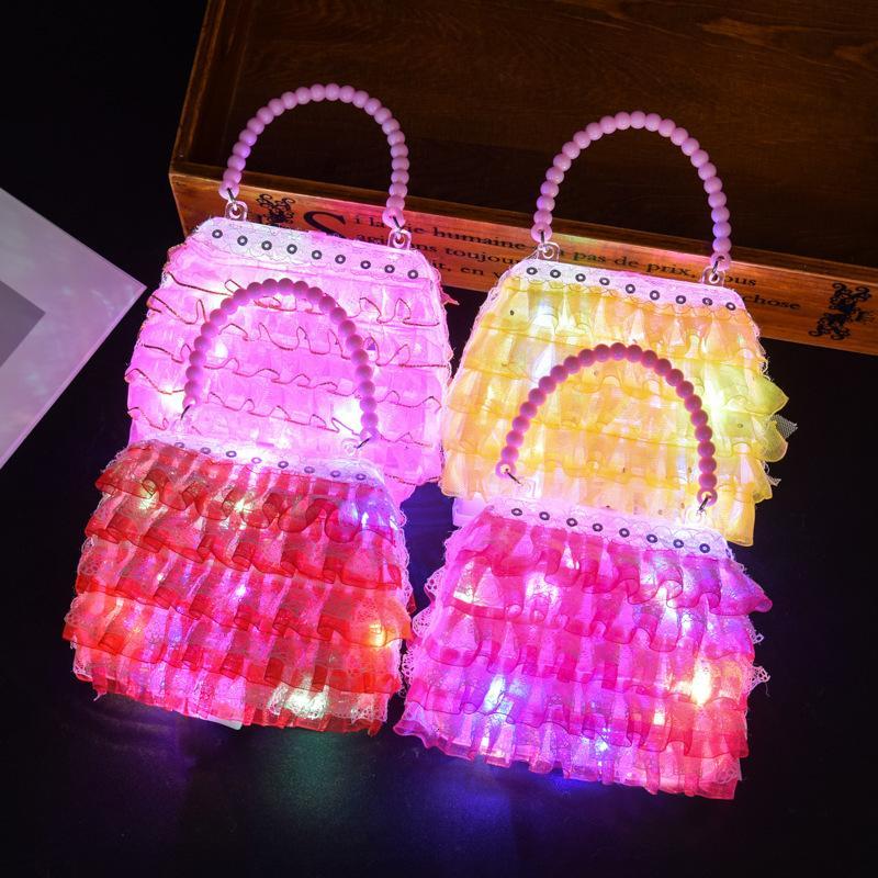 Kinder Prinzessin Modeschmuck Leuchtende Familie Handtasche Mädchen Spielzeug Aufbewahrungstasche