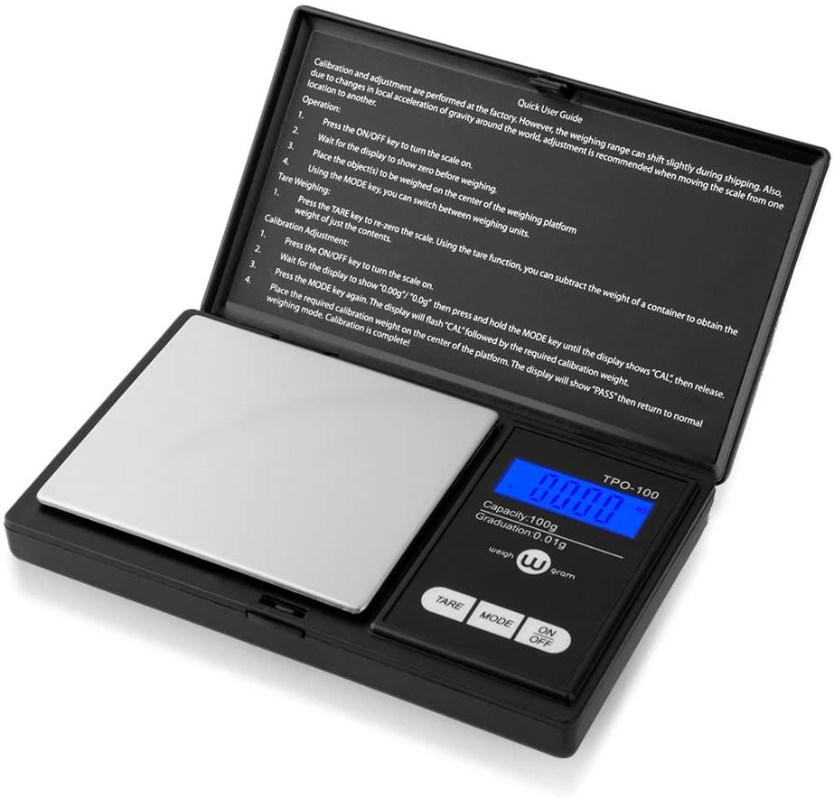100g / 0,01g Tragbare Tasche Nahrungsmittelkala für Gold Diamant Schmuck Gewichtsbilanz Küchenwerkzeuge