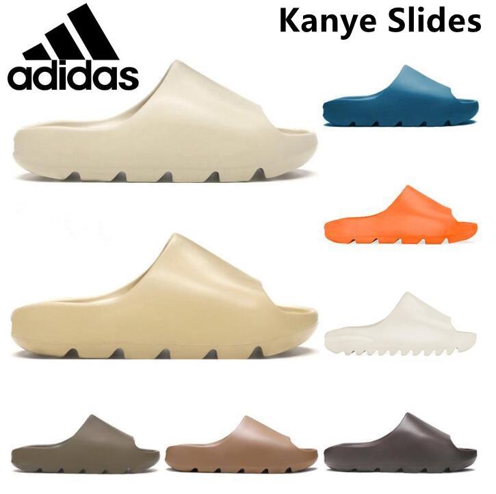 Kanye Clog Sandal West Men 블랙 슬라이드 슬리퍼 여성 뼈 수지 사막 Tainers Mens Womens Designer Beach Sandals Slip-On Yeezy Yeezys 신발 36-44