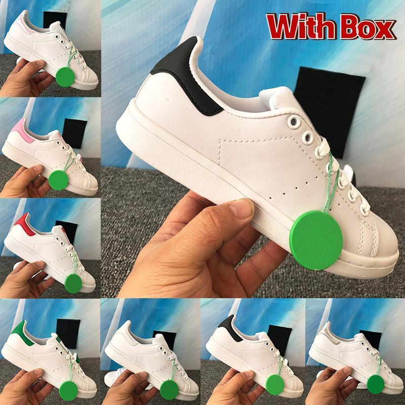 Kutusu Stan Smith Erkek Kadın Rahat Ayakkabılar Üçlü Yanardöner OG Beyaz Yeşil Zebra Yemyeşil Kırmızı Metalik Gümüş Pembe Erkek Sneakers